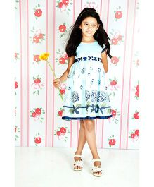 Cupcake Celebration Party Frock - Floral Embroidery
