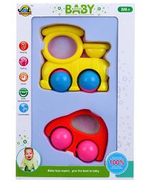 Shadilal Baby Rattle Pack Of 2 - Multi Color