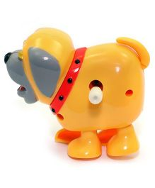 Baby Steps Running Doggy Wind Up Toy Orange
