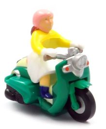Baby Steps Speedy Scooter Pull Back Toy