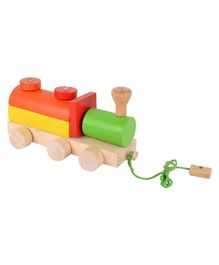 Skillofun Wooden Pull Along Shape Sorter Engine - Multicolour