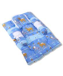 Babyhug Gadda Set Blue - Animal Print