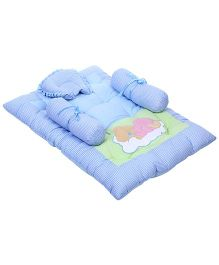 Babyhug Gadda Set Teddy Embroidery - Blue