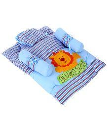 Babyhug Gadda Set Lion Embroidery - Blue