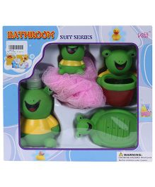 Fab N Funky Bathroom Set Frog Design - Set Of 4