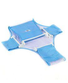 Fab N Funky T Shape Bath Net - Blue And White