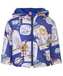 Little Kangaroos Hooded Jacket - Bear Print