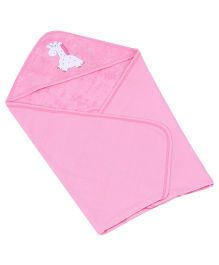 Child World Hooded Baby Blanket Wrapper - Pink