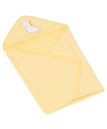 Child World Hooded Baby Blanket Wrapper - Yellow