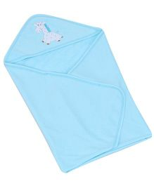 Child World Hooded Baby Blanket Wrapper - Aqua Blue