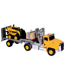 CAT Massive Crane with Skid Steer - Yellow And Black