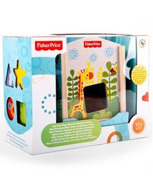 Fisher Price My First Blocks in Wooden House - Multi Color