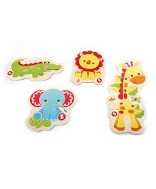 Fischer Price Magnetic Puzzle with 4 Animal Set A - Multicolor