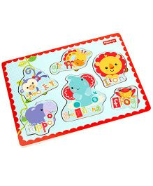 Fisher Price Puzzle With Wooden Hand Grasps - Multi Color