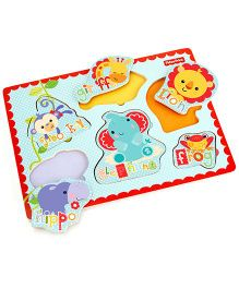 Fisher Price Puzzle With Wooden Hand Grasps
