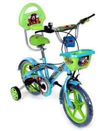 Hero Cycles Disney Mickey 14T Bicycle - Sky Blue And Green