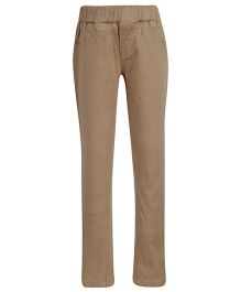 Palm Tree Full Length Jeggings - Khaki
