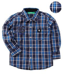 Palm Tree Full Sleeves Checks Shirt - 95 Patch