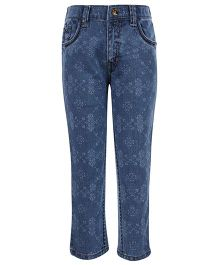 Gini & Jony Fixed Waist Jeans - Floral Print