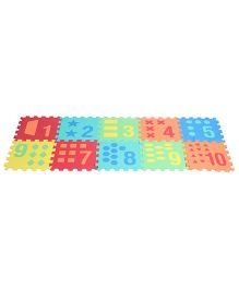 Kiddy Number And Shape Puzzle Mat Multicolour - 10 Pieces