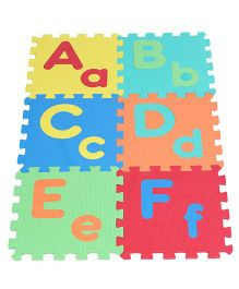 Kiddy Capital And Lower Alphabet Puzzle Mat Multicolour - 26 Pieces