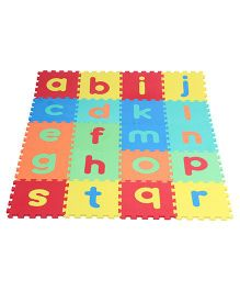 Kiddy Lower Alphabet And Shapes Puzzle Mat Multicolour - 30 Pieces