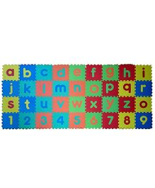 Kiddy Alphabet And Numbers Puzzle Mat Multicolour - 36 Pieces