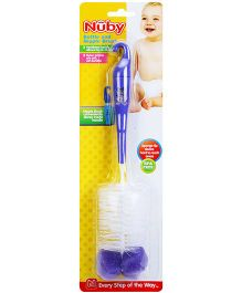 Nuby Bottle And Nipple Brush - Blue