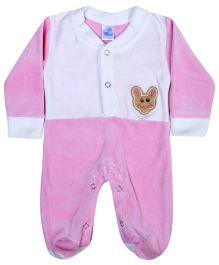 Bebe Comfort Footed Romper - Teddy Face Patch