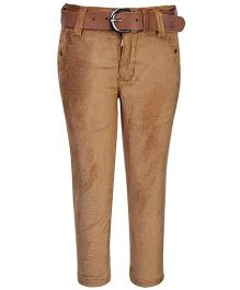 Talent Full Length Corduroy Trouser - Beige