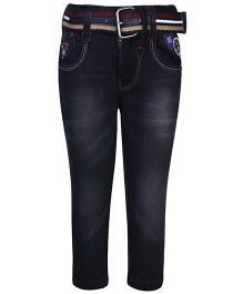 Talent Full Length Jeans With Belt - Black