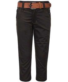 Talent Full Length Pant With Belt - Olive