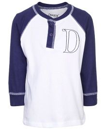 Dreamszone Full Sleeves T-Shirt - D Embroidery