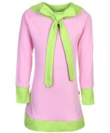 Dreamszone Full Sleeves Long Top Pink - Ribbon Bow Pattern