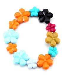 Hopscotch Bracelet Flower Beads - Multi Colour