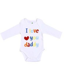 bio kid Long Sleeves Body Suit White - I Love You Daddy