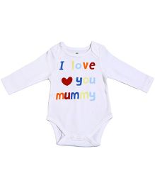 bio kid Full Sleeves Onesies - I Love You Mummy Print