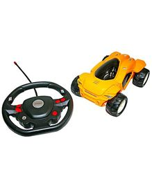 Adraxx Remote Control Super Stunt Performing Car Toy - Yellow