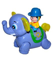 Adraxx Little Elephant Toy With Rodeo Rider