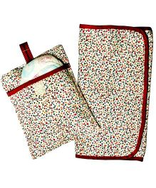 Kadambaby Diaper Changing Mat And Case Set - Multi Color