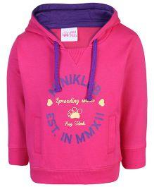 FS Mini Klub Hooded Sweatshirt Pink - Spreading Smiles Print