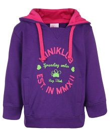 FS Mini Klub Hooded Sweatshirt Purple - Spreading Smiles Print