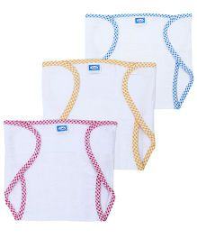 Littles Velcro Nappies Large Multicolor - Set Of 3