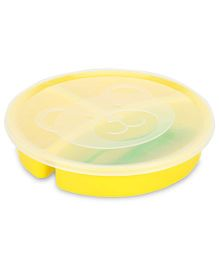 Little's 3 Section Divided Plate With Lid Fork And Spoon (Color May Vary)
