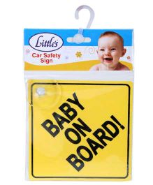 Little's Car Safety Sign Board - Yellow