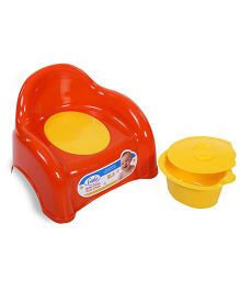 Little's Baby Potty Cum Chair - Orange