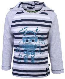 FS Mini Klub Hooded T-Shirt - Stripe Print