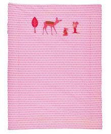 Taftan Small Quilt Deer Pink