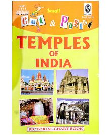 Indian Book Depot map house Cut And Paste Chart Book Temples of India - English
