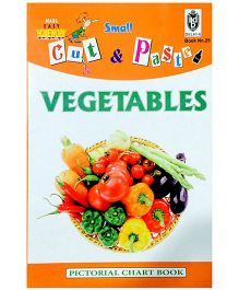 Indian Book Depot map house Cut And Paste Chart Book Vegetables - English